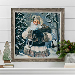 Woodland Rustic Santa Framed Art Print