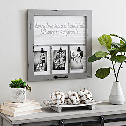 Love Story Windowpane Collage Frame