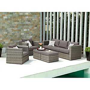 Kenzie Outdoor Seating Set, Set of 5