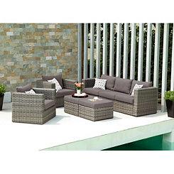 Kenzie Outdoor Seating Set, Set of 5