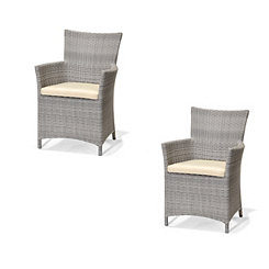 Kenzie Outdoor Easy Chairs, Set of 2