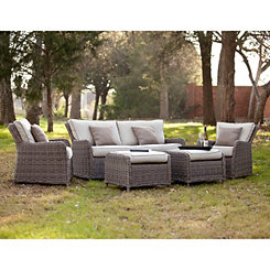 Cynthia Wicker Outdoor Seating Set, Set of 5