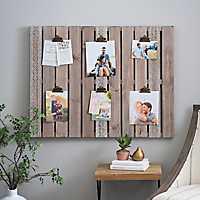 Aubrey Wood Pallet Clip Collage Frame