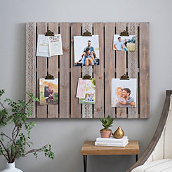 Aubrey Wood Pallet Clip Collage Frame