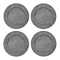Rustic Metal Chargers, Set of 4