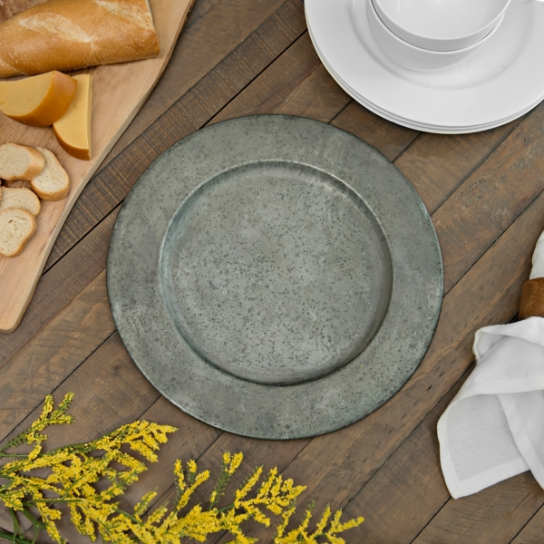 Rustic Metal Chargers Set of 4 & Charger Plates | Kirklands