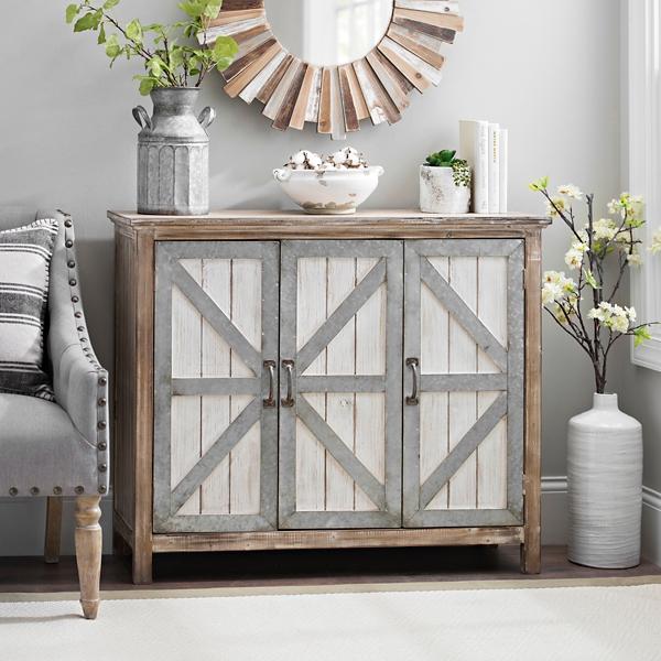 galvanized barn door 3door cabinet