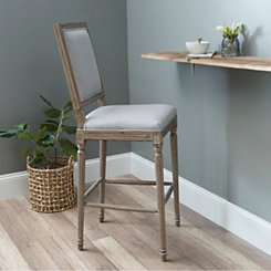 Rectangle Louis Gray Bar Stool