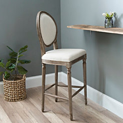 Louis Ivory Bar Stool