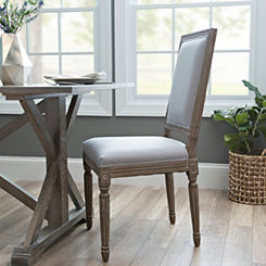 Rectangle Louis Gray Dining Chair