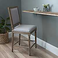 Rectangle Louis Gray Counter Stool