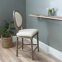 Louis Ivory Counter Stool