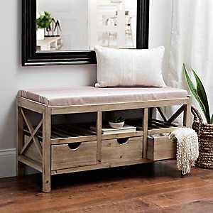 Kerrington Wood Crate Storage Bench