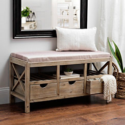 Kerrington Wood Crate Storage Bench