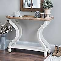 Corina Scalloped Console Table