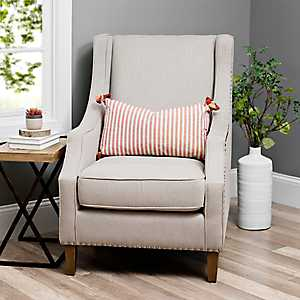 Quinn Solid Taupe Accent Chair