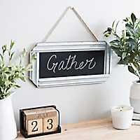 Galvanized Metal Framed Hanging Chalkboard