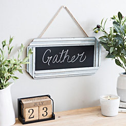 Galvanized Metal Framed Hanging Chalkboard
