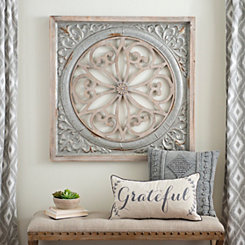 Galvanized Metal Medallion Wall Plaque