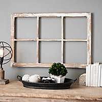 Antique 6-Pane Window Plaque