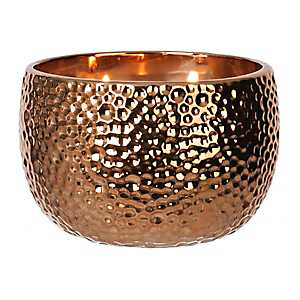 Hammered Bronze Jar Candle