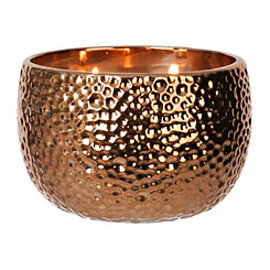 Hammered Bronze Jar Candle