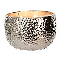 Hammered Silver Jar Candle