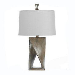 Silver Open Twist Table Lamp