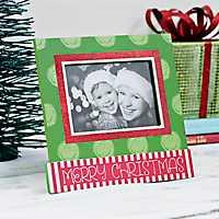 Polka Dot Merry Christmas Picture Frame