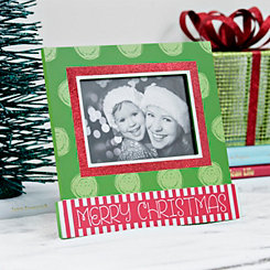 Polka Dot Merry Christmas Picture Frame