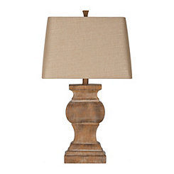 Amber Antique Brown Table Lamp