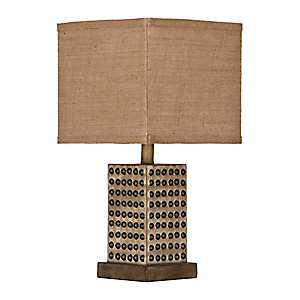 Natural Nailhead Table Lamp