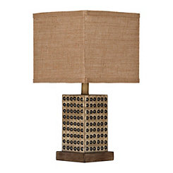Natural Nailhead Table Lamp