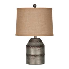 Erin Galvanized Metal Table Lamp