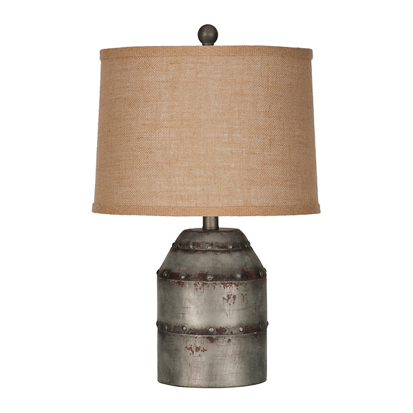 Erin Galvanized Metal Table Lamp