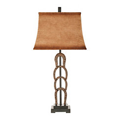 Stacked Horseshoes Table Lamp