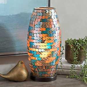 Blue Oasis Mosaic Uplight