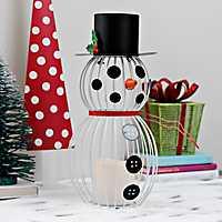 Pre-Lit Decorative Snowman Lantern
