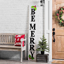 Be Merry Christmas Porch Board Plaque