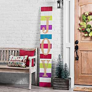 Joy Christmas Porch Board Plaque