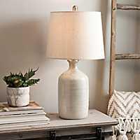 Nielson Cream Crackle Ceramic Table Lamp
