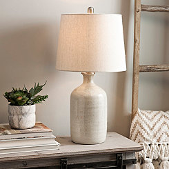 Nielson Cream Crackle Ceramic Table Lamp