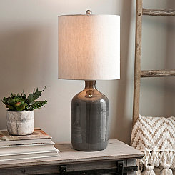 Nielson Gray Crackle Ceramic Table Lamp