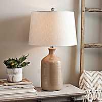 Nielson Tan Crackle Ceramic Table Lamp
