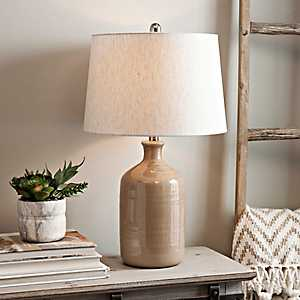 Nielson Tan Crackle Ceramic Table Lamp