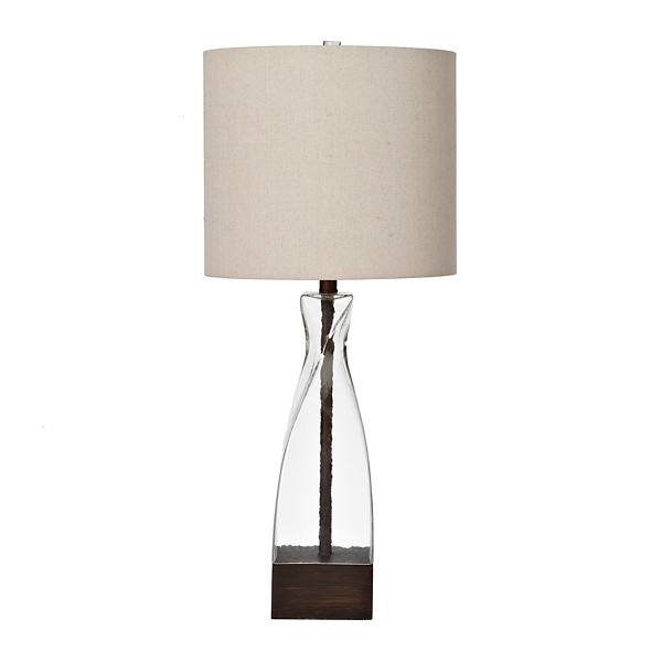 liza clear glass twist table lamp