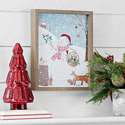 Woodland Snowman Framed Art Print