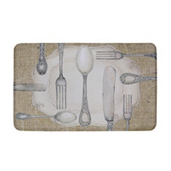 Silverware Oval Kitchen Mat