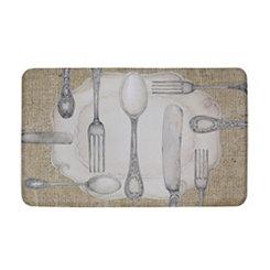 Silverware Oval Kitchen Mat