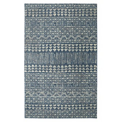 Billerica Blue Shag Area Rug, 5x8